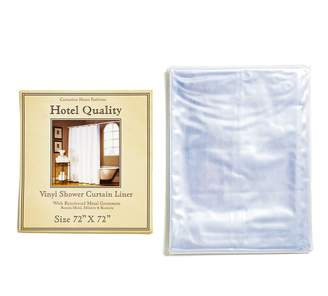 clear ABC Home Shower Curtain Liner