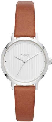 DKNY Women Modernist Tan Leather Strap Watch 32mm