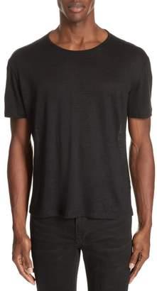 John Varvatos Collection Linen Crewneck T-Shirt