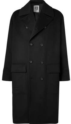 Connolly - Double-breasted Wool And Cashmere-blend Overcoat - Black