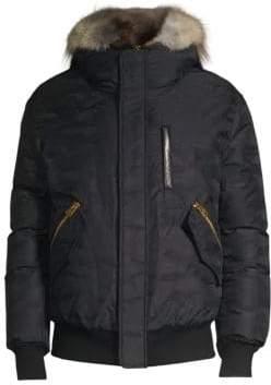 Mackage Men's Dixon Fur-Trimmed Bomber Jacket - Black - Size 42