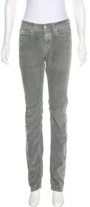 Closed Corduroy Straight-Leg Pants