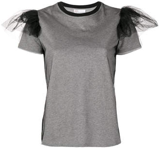 RED Valentino tulle puff sleeve T-shirt