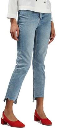Topshop Step Hem Straight Leg Jeans $80 thestylecure.com