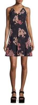 Rebecca Taylor Phlox Printed Silk Slip Dress
