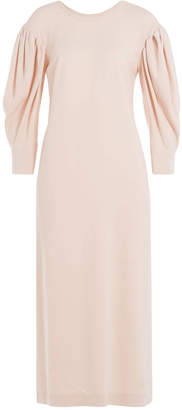 Simone Rocha Midi Dress with Draped Sleeves