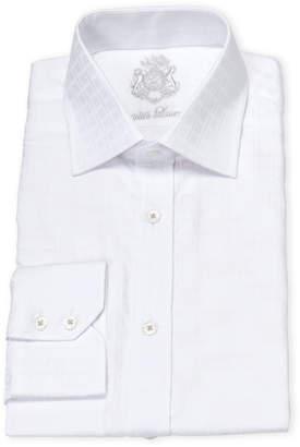 English Laundry White Tonal Square Cotton Dress Shirt