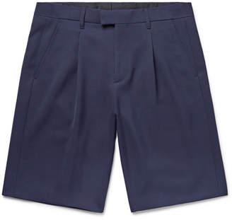 Raf Simons Pleated Virgin Wool Shorts