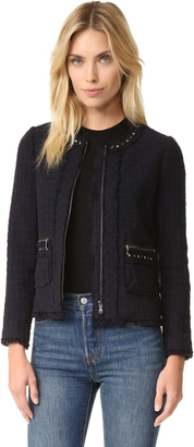 Rebecca Taylor Tweed Studded Jacket $550 thestylecure.com