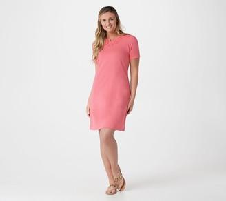 Denim & Co. Regular French Terry Short-Sleeve Dress