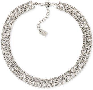 Lauren Ralph Lauren Silver-Tone Crystal Pavé Choker Necklace $78 thestylecure.com
