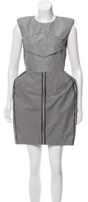 Acne Studios Structured Gingham Dress