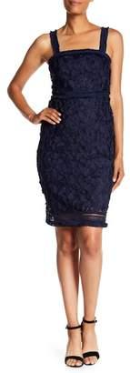 Trina Turk Energetic Embroidered Frayed Trim Dress