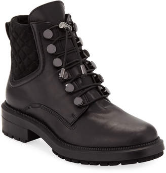 Aquatalia Linda Leather Combat Boot