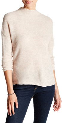 In Cashmere Ribbed Mock Neck Cashmere Sweater $204 thestylecure.com