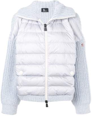 Moncler padded front knit jacket
