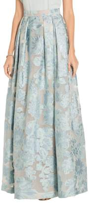 St. John Organza Lame Floral Fil Coupe Gown Skirt