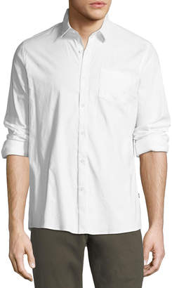 Civil Society Stretch-Woven Button-Down Shirt, White