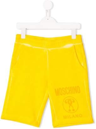 Moschino Kids logo patch shorts