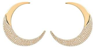 Lana 14K Yellow Gold Flawless Pave Diamond Crescent Drop Earrings - 2.61 ctw