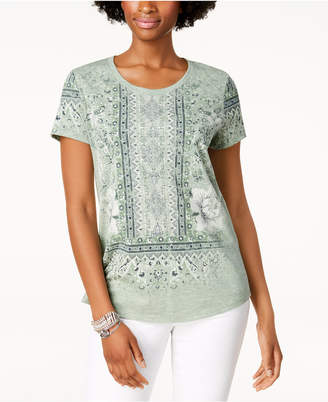 Style&Co. Style & Co Graphic Scoop-Neck T-Shirt