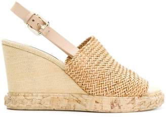 Casadei woven detail slingback mules
