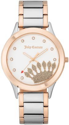 Juicy Couture Two-Tone Watch w/ White Dial