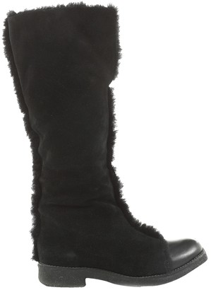 See by Chloe Black Faux fur Boots
