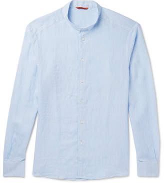 Barena Slim-Fit Grandad-Collar Linen Shirt