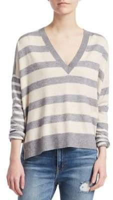 Derek Lam 10 Crosby Stripe V-Neck Sweater