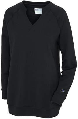 Champion Split-Neckline Colorblocked Fleece Tunic