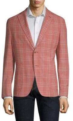 Pal Zileri Checked Wool Blazer