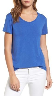 Petite Women's Halogen Modal Jersey V-Neck Tee $32 thestylecure.com