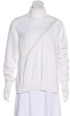 Undercover Rib Knit Silk-Paneled Sweater