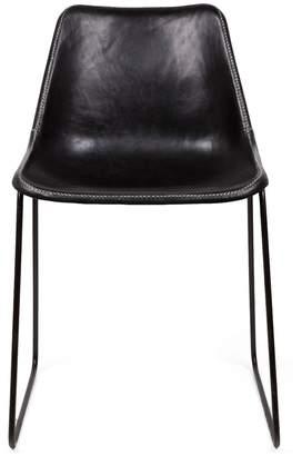 Giron Leather Chair Black