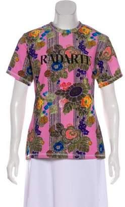 Rodarte Floral Print Logo Top