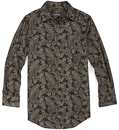 Class Club 8-20 Paisley Spread Collar Dress Shirt