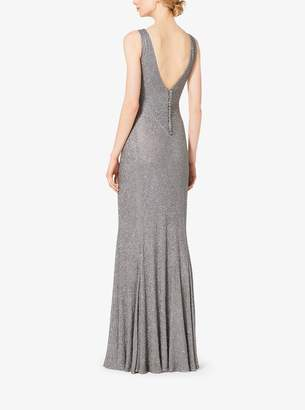 Michael Kors Caviar-Beaded Silk-Chiffon Gown
