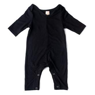 Smash Wear + Tess Mini Friday Romper Rayon Cotton Black 3 to 6 Months
