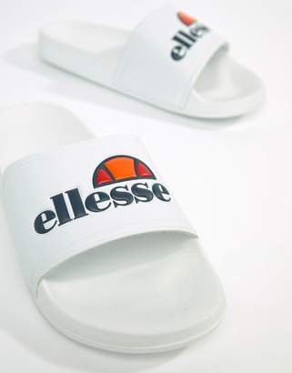 Ellesse Sliders With Large Logo In White