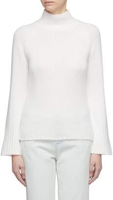 Vince Flared sleeve cashmere turtleneck sweater