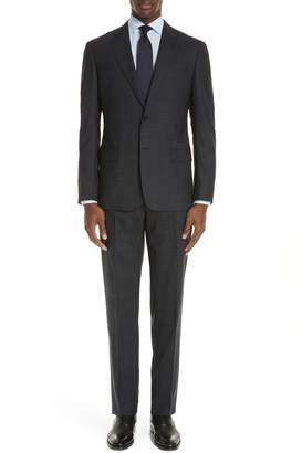 Emporio Armani G-Line Trim Fit Stretch Plaid Wool Suit