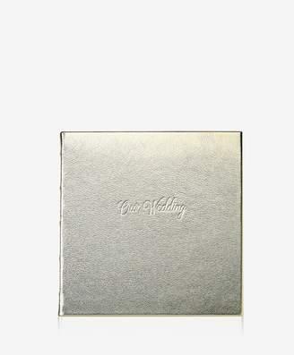 Wedding Journal White Gold Metallics Leather