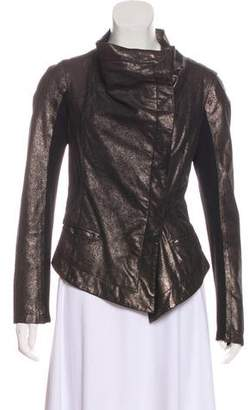 Graham & Spencer Metallic Button-Up Jacket