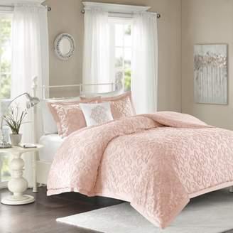 Home Essence Amber Cotton 4-Piece Chenille Comforter Set