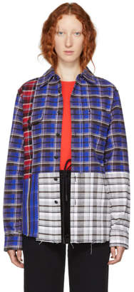 Off-White Multicolor Reconstructed Check Shirt
