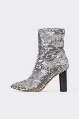 IRO Silver Sequin Boots