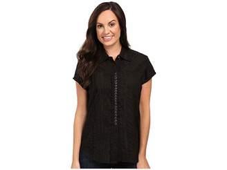 Scully Honey Creek Lace Cap Sleeve Top W/ Flirty Snap Front