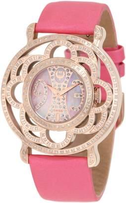 Brillier Women's 04-31323-02 Papillon Swiss-Quartz Mother-Of-Pearl Watch