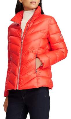 Lauren Ralph Lauren Chevron Quilted Packable Down Jacket